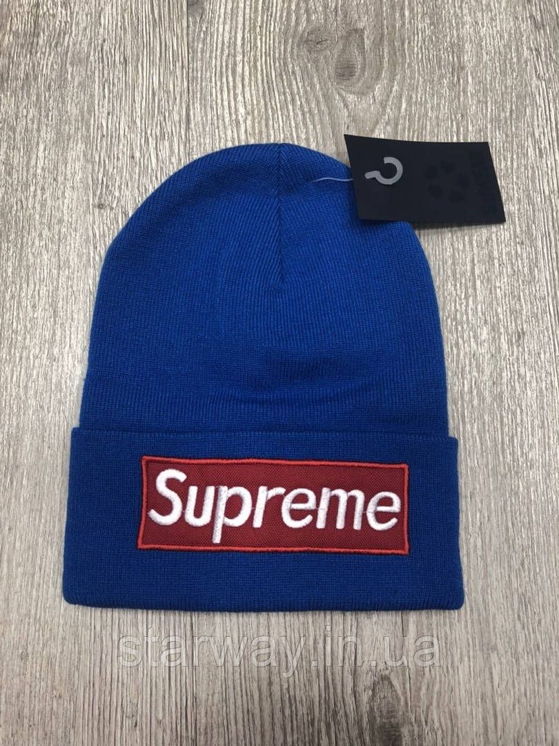 Шапка стильная Supreme logo вышивка