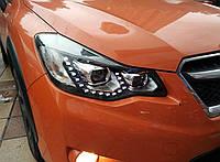 Передние фары Led тюнинг оптика Subaru XV черная ксенон