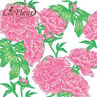 """Столовые салфетки ТМ """"La Fleur"""" Пионы"""