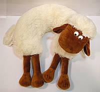 Подушка декоративная меховая для шеи барашек Шон