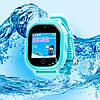 Детские ВОДОНЕПРОНИЦАЕМЫЕ умные часы Motto с GPS трекером TD05 Голубые  с гарантией 6 месяцев