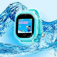 Детские ВОДОНЕПРОНИЦАЕМЫЕ умные часы Motto с GPS трекером TD05 Голубые  с гарантией 6 месяцев, фото 1