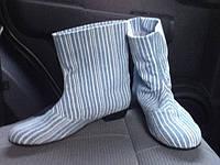 Сапоги джинсовые высота 17 см, фото 1