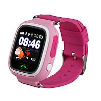 Детские умные часы Motto с GPS трекером TD-02 (Q100) Розовые  с гарантией 6 месяцев, фото 1