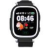 Детские умные часы Motto с GPS трекером  TD-02 (Q100) Черные  с гарантией 6 месяцев