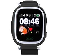 Детские умные часы Motto с GPS трекером  TD-02 (Q100) Черные  с гарантией 6 месяцев, фото 1