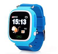 Детские умные часы Motto с GPS трекером  TD-02 (Q100) Синие с гарантией 6 месяцев, фото 1