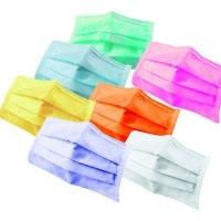 Одноразовые трехслойные маски, 50 шт (разные цвета)