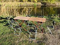 """Складные столы и складные стулья со спинкой """"Кемпинг F2+6"""" (2 стола и 6 стульев)"""