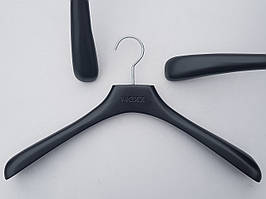 Плечики вешалки тремпеля Mainetti Mexx широкий черного цвета, длина 42 см