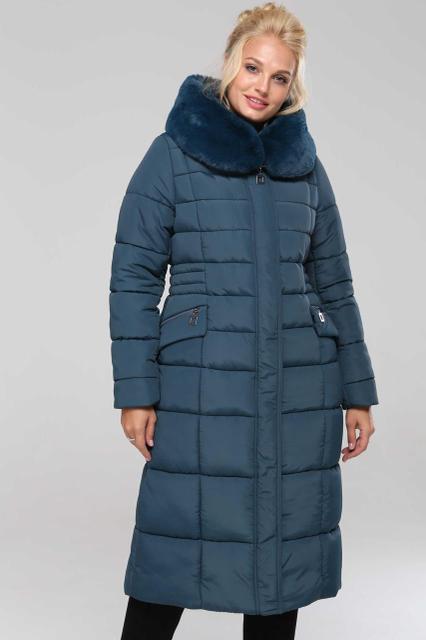 Зимнее женское пальто удлиненное с капюшон