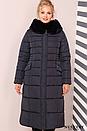 Зимнее женское пальто удлиненное с капюшон, фото 4