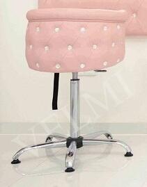 Детское парикмахерское кресло OBSESSION VM863 Хром КЗ Розовый (Velmi TM)