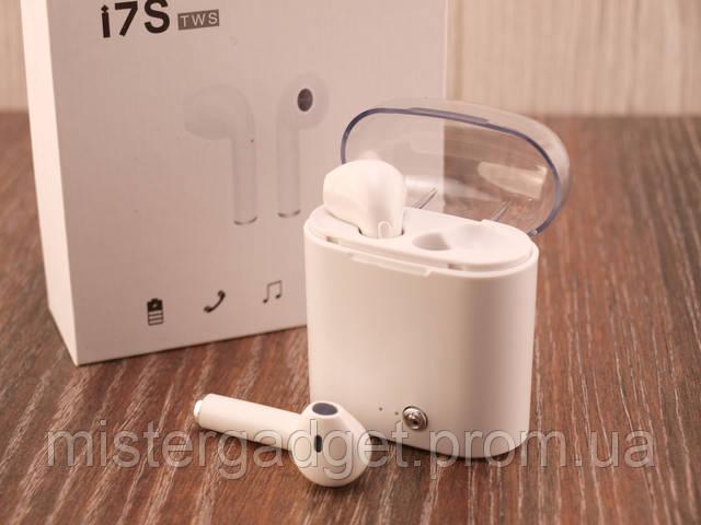 Беспроводные наушники I7s TWS Bluetooth в кейсе