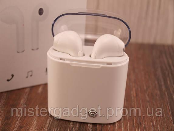 Беспроводные наушники I7s TWS Bluetooth White в кейсе, фото 2
