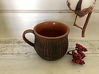 Чашка из красной глины