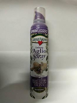 Оливковое масло-спрей Mantova Grand Aroma Aglio Spray Olio Extra Vergine di Oliva, 250 мл (Италия)