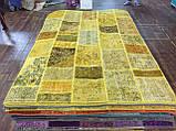 Желтый состаренный ковер, лоскутные ковры в Одессе, фото 5