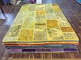 Желтый состаренный ковер, лоскутные ковры в Одессе, фото 6