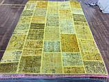 Желтый состаренный ковер, лоскутные ковры в Одессе, фото 7
