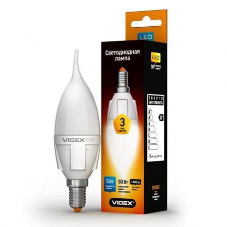 LED лампа VIDEX C37t 5W E14 3000K 220V