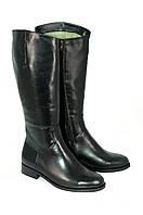Сапоги женские черные кожаные Passo Avanti натуральная кожа (8504)