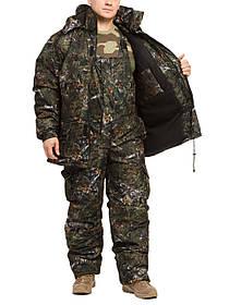 """Костюм для зимней рыбалки из мембранной ткани """"Темный лес"""" до -30℃ размер с 46 по 66"""