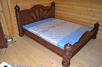 Кровать двухспальная под старину солнце (точёные столбы)