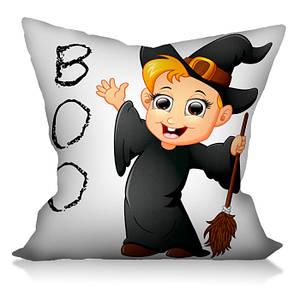 Подушка с рисунком Мимишная Ведьмочка