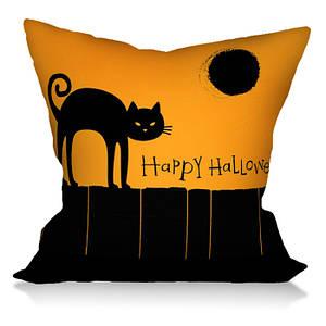 Подушка с ярким рисунком Черная Кошка