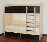 """Двоярусне ліжко з шухлядами """"Макс"""" (8 варіантів кольорів), фото 1"""