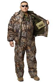 Зимний дышащий костюм, штаны полукомбинезон зимний (Лесная чаща) Есть все размеры с 46-66