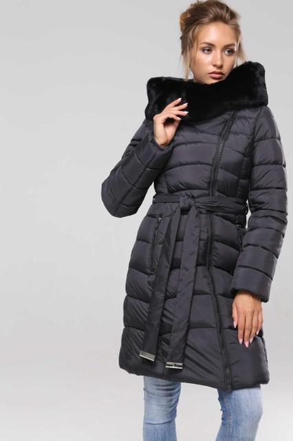 Пальто женское зимнее с мехом Nui very