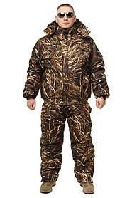 Зимний дышащий костюм, штаны полукомбинезон зимний (Желтый Камыш) Есть все размеры с 46-66