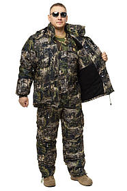 Зимний дышащий костюм, штаны полукомбинезон зимний (Хвойный Лес) Есть все размеры с 46-66