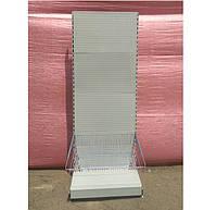 Торговый стеллаж перфорированный (Подиум 60 см.+корзина) бу, фото 1