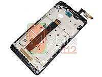 Модуль для Xiaomi Redmi Note 3 + (Дисплей + тачскрин), с передней панелью, черный