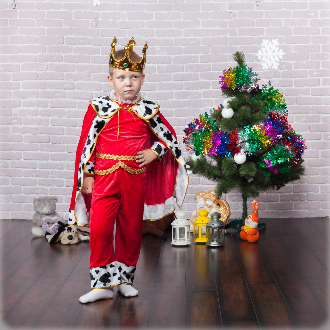Детский карнавальный костюм Короля для мальчиков 4-10 лет
