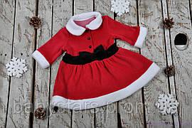 Новогоднее велюровое платье, размеры: 62, 68, 74, 80, 86