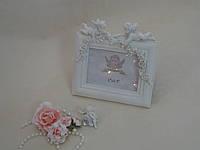 Фоторамка с ангелами белая, фото 1