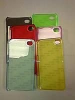 Чехол цветной ПРОЗРАЧНЫЙ для iPhone 4\4S