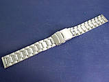 Браслет для часов метал 20 Silver, фото 2