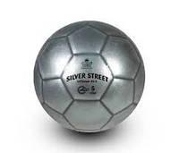 Футбольный уличный мяч (380 грамм Ø - 21,3 см.) - Серебряный