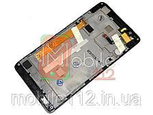 Модуль для Lenovo A6000/ K3 (K30-T) + (Дисплей + тачскрин), с передней панелью 100% ОРИГИНАЛ, черный