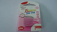 "Застывающий шолковый пластилин ""Брелок Макарун Silk Clay Macaron "",набор для лепки.Масса для лепки супер легка"