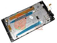Модуль для Lenovo P70, P70-a, P70-t +  (Дисплей + тачскрин), с передней панелью, черный