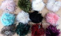 103 Цветные брелки помпоны для сумок из меха. Меховые брелоки помпоны для ключей