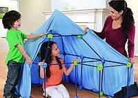 Развивающий большой конструктор - палатка, домик детский разборной, строительный набор из 77 деталей., фото 1