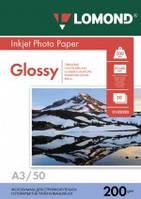 Бумага для струйных принтеров глянцевая Lomond 200 г/м2 А3 50л.
