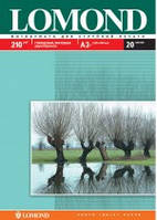 Бумага для струйных принтеров глянец/мат Lomond 210 г/м, двусторонняя А3+, 20л.